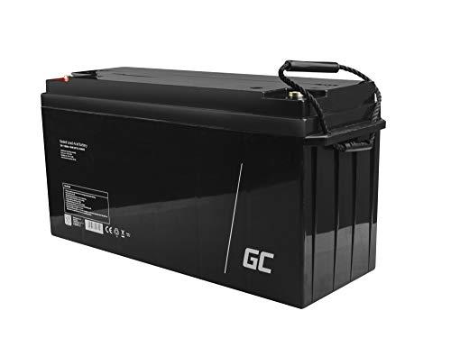 Green Cell Recambio de Batería Gel AGM 12V 150Ah Rechargeable Pila Sellada de Plomo ácido batería sin Mantenimiento Batería de Reemplazo para Camper Fotovoltaica Autocaravanas Barcos