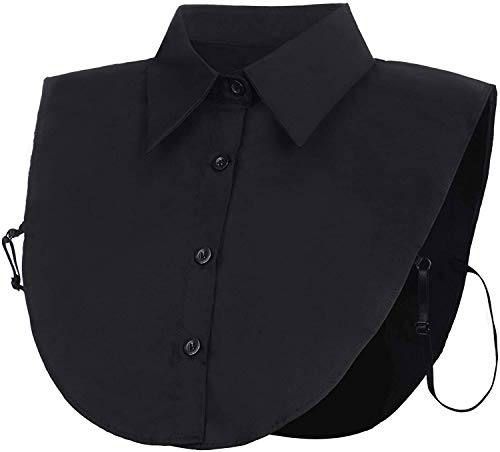 JFAN Cuello Falso Desmontable Mitad Camisa Blusa Elegante para Mujeres Dril De Collar Falso Algodón De Cuello De La Falso por Muchachas
