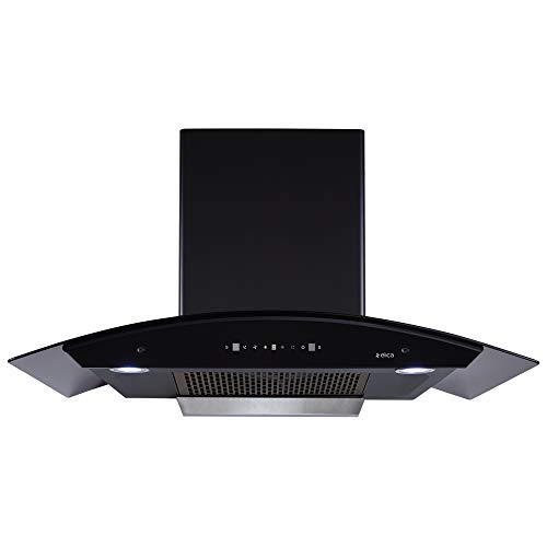 Elica 90 cm 1200 m3/hr Filterless Auto Clean Chimney with Free Installation Kit (TBFL HAC TOUCH 90 MS, Touch & Motion Sensor Control, Black)