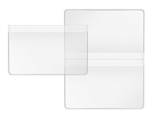 Veloflex 3274500 Doppelhülle, Scheckkartenhülle, Kundenkartenhülle, transparent, 89 x 114 mm, 20 Stück