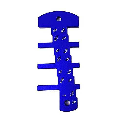FEIFUSHIDIAN Solide Router Tiefenmesser Holzbearbeitung Tischkreissäge Metric Caliper Aluminiumlegierung Messwerkzeug ultimative Clarity Ruler Professionelle Heavy Duty-Zangen-Set (Farbe: rot) Robust
