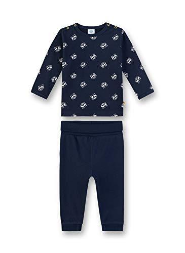 Sanetta Baby-Jungen Pyjama Zweiteiliger Schlafanzug, Blau (Nordic Blue 5962), (Herstellergröße: 98)