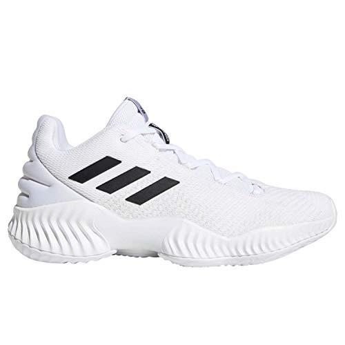 adidas Men's Pro Bounce 2018 Low Basketball Shoe, White/Black/Crystal White, 4 M US