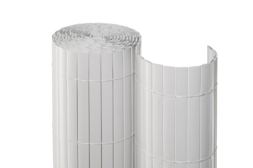 NOOR Sichtschutzmatte PVC 1,6x3m Farbe: Weiss