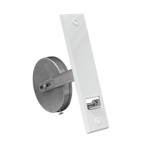 JAROLIFT Getriebe-Gurtwickler inkl. Kunststoff-Abdeckplatte, weiss/Lochabstand: 186mm