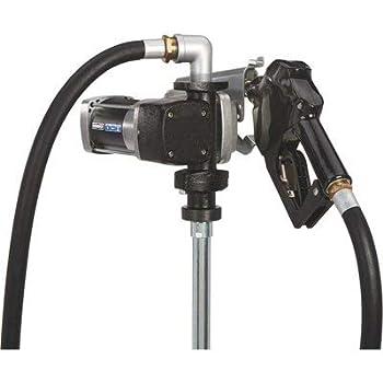 Roughneck Heavy-Duty Fuel Transfer Pump - 15 GPM 12 Volt DC Auto Nozzle Gasoline Compatible