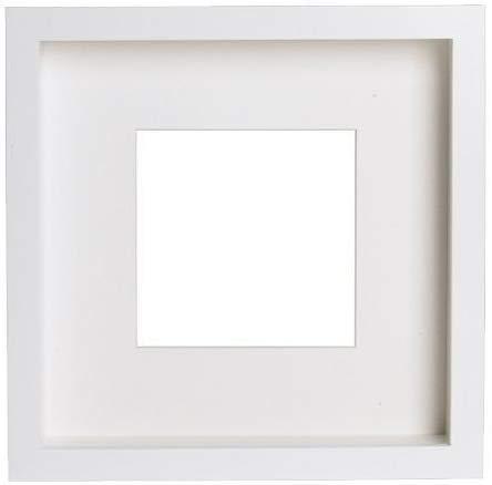 2 x Marco IKEA Ribba de poliéster, blanco, 23 x 23 x 5 cm
