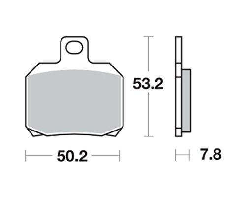 Bremsbeläge TRW MCB700EC für APRILIA RSV 1000 Tuono R RP/RR 02-10 (hinten)