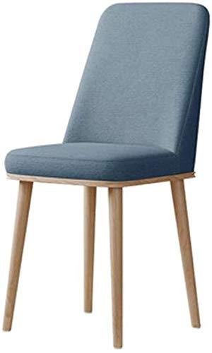 LQ Adulte Dossier Chaise, Chaise ergonomique for la maison/restaurant Table/salle de réception/café/réunion Chambre Jaune 45x45x93CM chaise de bureau (Color : Blue)