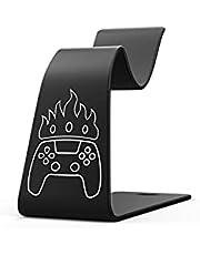 UPOK PS5コントローラースタンドホルダー Playstation 5/PS4/Xboxシリーズ/Nintendo Switch ゲームパッド コントローラー アルミニウム合金デスクホルダーアクセサリー(ブラック)