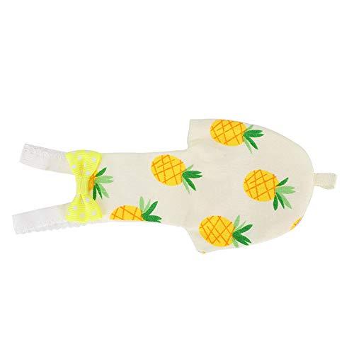 Taidda- Waschbare Bequeme Vogelkleidung, süße Windel, Verstellbarer Schultergurt für Mini(S, Pineapple)