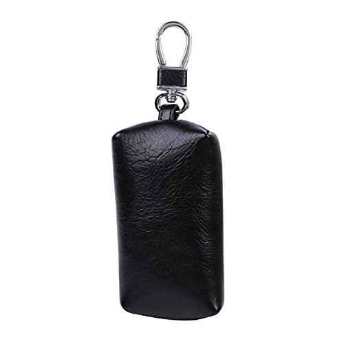 USNASLM Moda caliente hombres mujeres cuero coche llavero bolso bolso con llavero cartera titular mini cremallera bolso