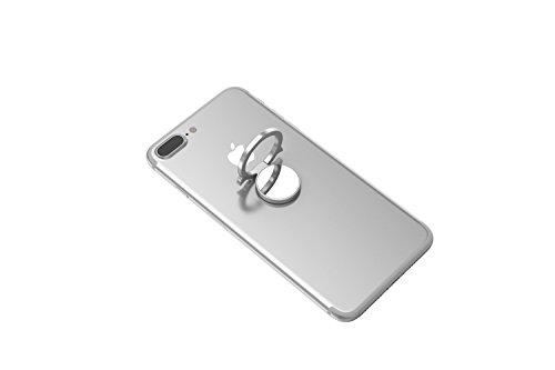 Kronya | Portamonitor per smartphone ruotabile a 360 ° | Car Finger Fitness Holder Mount Cellulare Anello Ring Holder Supporto sportivo Apple iPhone iPad 7 8 10 X Samsung Galaxy S8 5 (Argento)