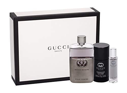 Gucci Guilty Pour Homme Eau De Toilette Set(Eau De Toilette 90 Ml+Deodorante 75 Ml+Eau De Toilette Da Viaggio 15 Ml - 180 Ml