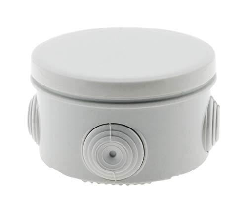 Boîte de dérivation étanche ronde IP55 - Ø80 Prof. 45mm - Blanc