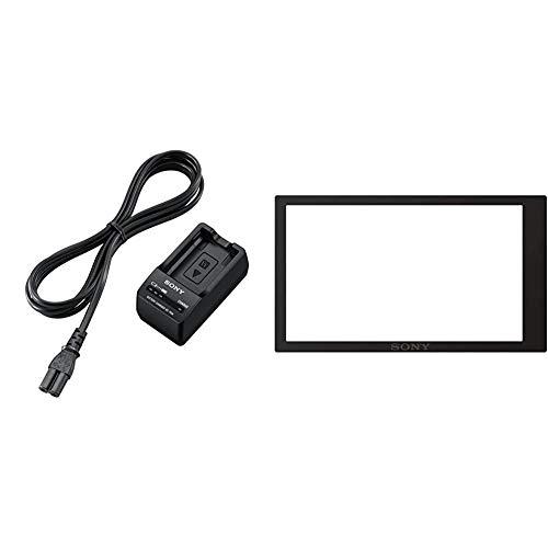 Sony BCTRW - Cargador para batería NP-FW50, Negro + PCKLM17 - Protector de Pantalla para cámara Digital Sony A6000