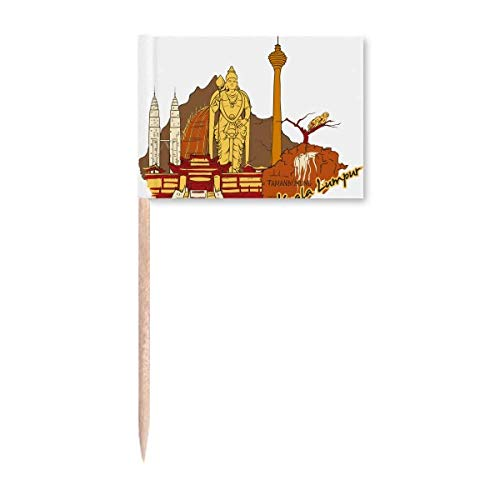 Malaysia Kuala Lumpur Aquarell Zahnstocher Flaggen Marker Topper Party Dekoration