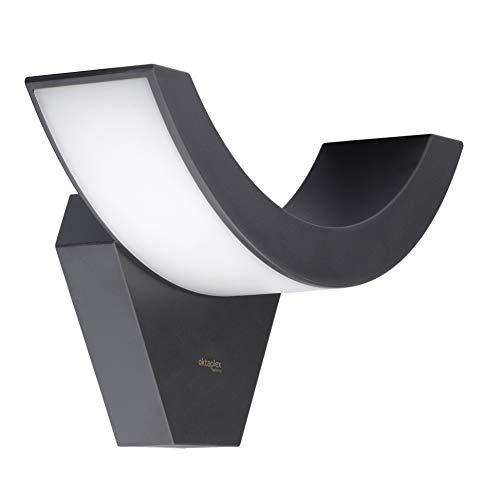 Oktaplex Lighting LED Außenwandleuchte Lima 10W IP54 | Außenleuchte 3000K Warmweiß | Wand Aussenleuchte anthrazit