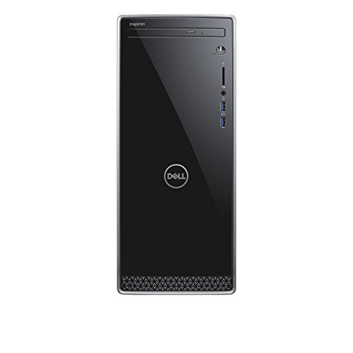 Dell Inspiron 3670 Desktop Computer Intel Core i3-8100 Processor 3.60GHz; Microsoft Windows 10 Home; 8GB DDR4-2400 RAM; 1TB 7,200RPM Hard Drive