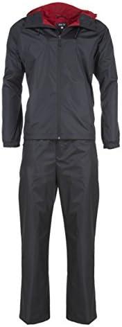 Swiss Alps Mens Ripstop Water Resistant 2 Piece Rain Suit Black 2XL product image