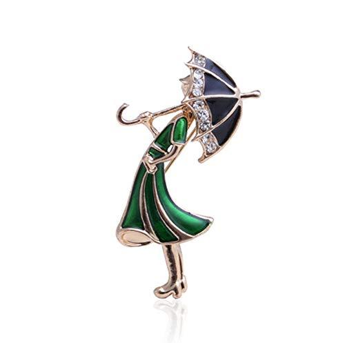 BJINUIY Broche de Moda para Mujer Lovely, paragüero de Diamantes para Mujer para Regalo de Bufanda, Corbata, Sombrero, Abrigo o Bolso