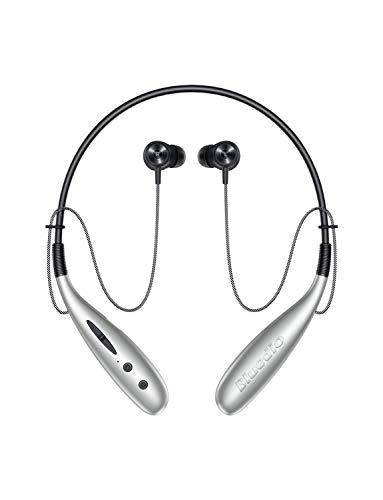 Bluedio Auricolari Bluetooth, HN + Cuffie Wireless Auricolari Sportivi Magnetiche in Ear con 8 Ore di Gioco, Driver da 13 mm Stereo, Scheda SD di Supporto, Microfono HD Incorporato per Android/IOS