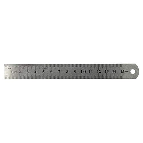 Romote 15cm 6 pulgadas de metal inoxidable recta Regla herramienta de medición