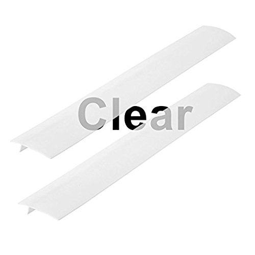 Linda's Silicone Kitchen Stove Counter Gap Cover Long & Wide Gap Filler (2 Pack) Seals Gap Between Counters, Stovetops, Washing Machines, Oven, Washer   Heat-Resistant   Easy Clean (Matte Semi-Clear)