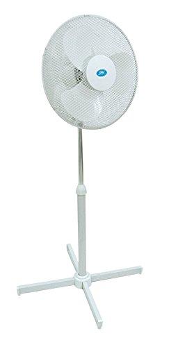 Clatronic Stand Ventilator mit 3 Geschwindigkeitsstufen Ø 40cm in Weiß, 45 W Standlüfter