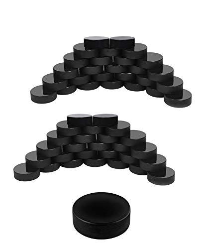 Thorza Ice Hockey Pucks Bulk 60 Pc. Set – Official Regulation Hockey Training Puck Case
