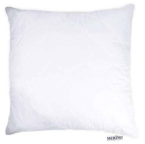 MERINO BETTEN Hochwertiges Schlafkissen 70x70 | Kopfkissen | Kissenhülle versteppt mit Reißverschluss | Serie Perle