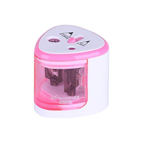 Aibecy Sacapuntas eléctrico automático de 2 agujeros (6-8 mm/9-12 mm), funciona con...