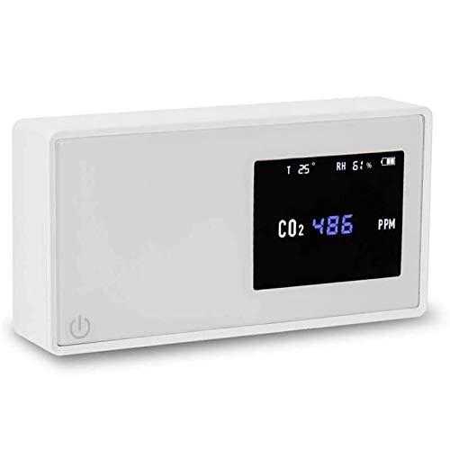 LILIS Carbon Monoxide Meter CO2-Meter-Luftqualitätsdetektor-CO2-Tester mit Kohlendioxid-Wert Strommenge Temperaturfeuchtigkeitsanzeige