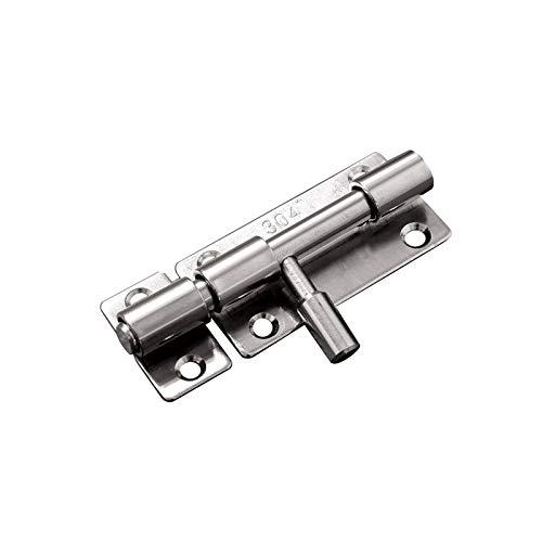 ZWMG 304 Bollo de Puerta de Tornillo de Acero Inoxidable Espesado Se Puede Usar el Bloqueo de la Puerta Anti-Robo de Bloqueo en el almacén (1 Paquete)