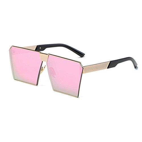 OVERDOSE Unisex Sommer Frauen Männer Moderne Modische Spiegel Polarisierte Katzenauge Sonnenbrille Brille Damensonnenbrille Herrensonnenbrille (F)