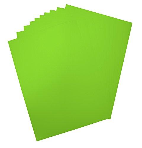 Folia 65941 - Plakatkarton, ca. 48 x 68 cm, 10 Bögen, 380 g/qm, einseitig leuchthellgrün gefärbt - ideal zum Basteln oder Erstellen von Plakaten und Anzeigen