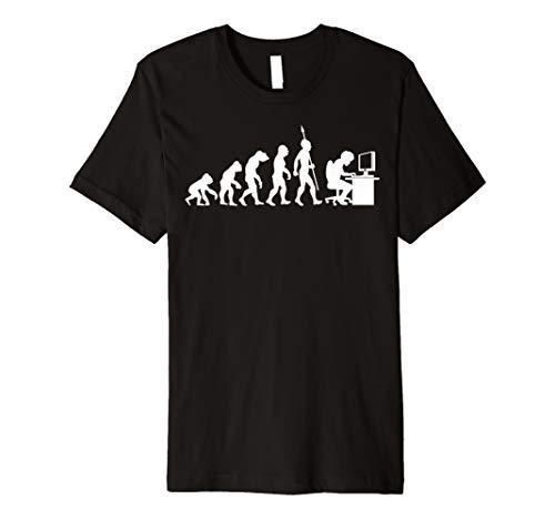 Computer Freak Geek Nerd PC Game Gamer Evolution Fun T-Shirt