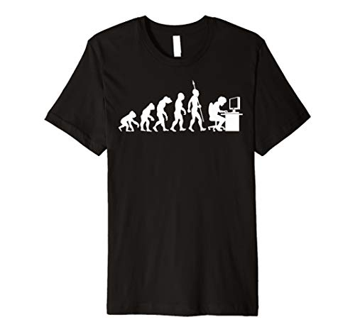 Computer Freak Geek Nerd PC Game Gamer Evolution Fun T-Shirt