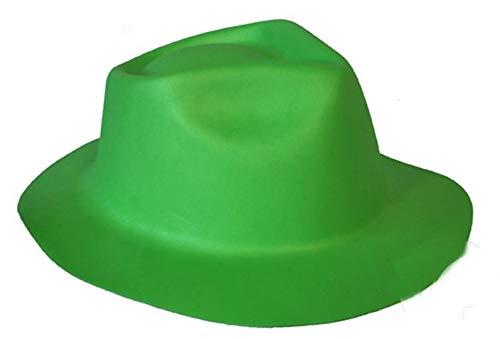 Cappello gangster adulto verde Birra Moretti San Patrizio in morbida EVA