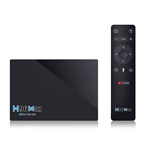 Android 11.0 TV Box 2021 El Decodificador Más Nuevo H96 MAX RK3566 Quad Core 8GB RAM 64GB ROM Reproductores Multimedia De Transmisión con 2.4G / 5.8GHZ WiFi con AC BT 4.0 8K Smart TV Box