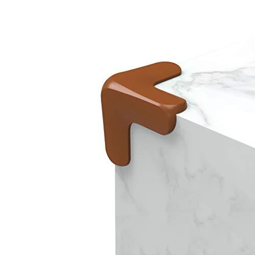 WYQ Protections d'angle, protecteurs d'angle de Table pour la sécurité des bébés First NBR Pack-8 Couleur NBR Souple et résistant Protection Coin (Couleur : Brown)