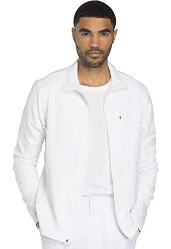 Dickies Dynamix Men's Men's Zip Front Warm-up Jacket, DK310, XL, White