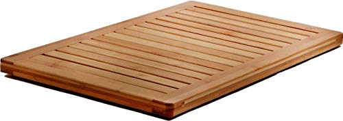 Bamboo Bath Mat Shower Floor Mat Non Slip for Indoor Outdoor Use, Made of 100% Natural Bamboo