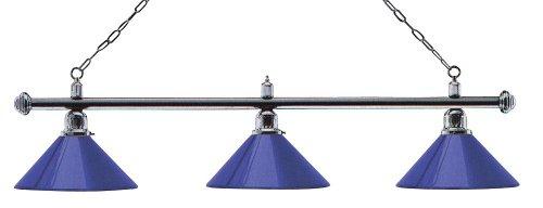 Billardlampe London 3fach Chrom/Blau
