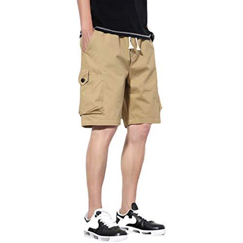 Monos Finos de Verano para Hombre Pantalones Cargo cómodos con múltiples Bolsillos al Aire Libre de Pierna Recta Informal, con cordón 4XL