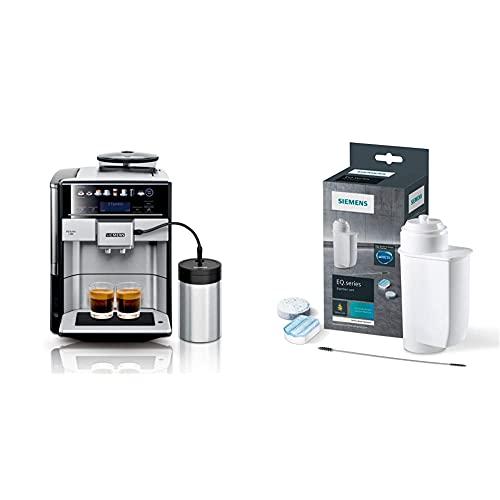 Siemens EQ.6 plus s700 Kaffeevollautomat TE657M03DE, 1.500 Watt, edelstahl & Pflegeset TZ80004A, optimale Reinigung, gründliche Entkalkung, für Kaffeevollautomaten der EQ.Serie