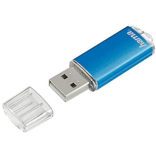 Hama 8GB USB-Stick USB 2.0 Datenstick (10 MB/s Datentransfer, USB-Stick mit Öse zur Befestigung am Schlüsselring, Speicherstick, Memory Stick mit Verschlusskappe, geeignet für Windows/MacBook) blau