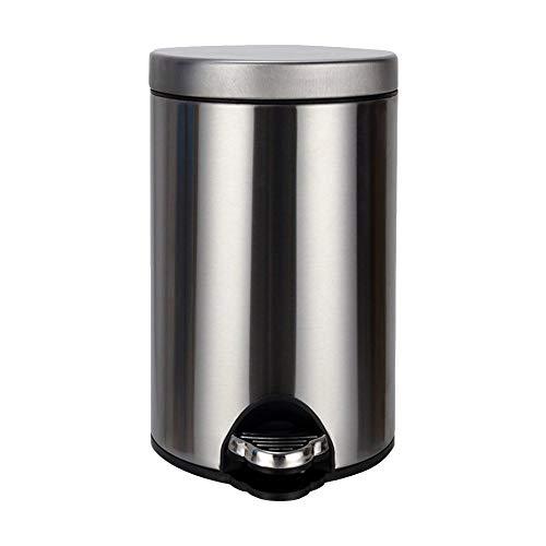 WLQNAME Bidoni per rifiuti con pattumiera con coperchio Coperchi in acciaio inox con pattumiera in casa e amp; Cucina Bagno Office-8L-G/P