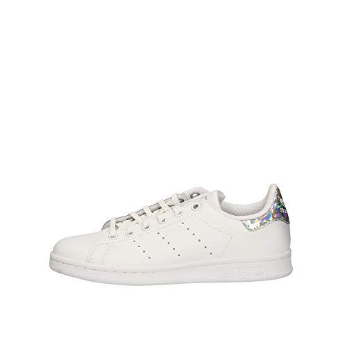 adidas Unisex Stan Smith J Sneaker, Weiß (White Ee8483), 38 EU