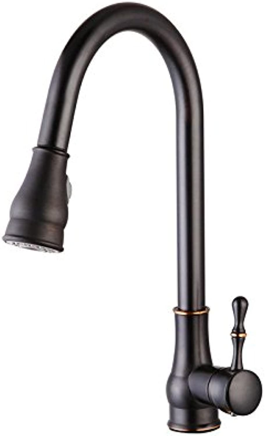 Lalaky Taps Faucet Kitchen Mixer Sink Waterfall Bathroom Mixer Basin Mixer Tap for Kitchen Bathroom and Washroom Pull-Type redatable Hot and Cold Single Hole